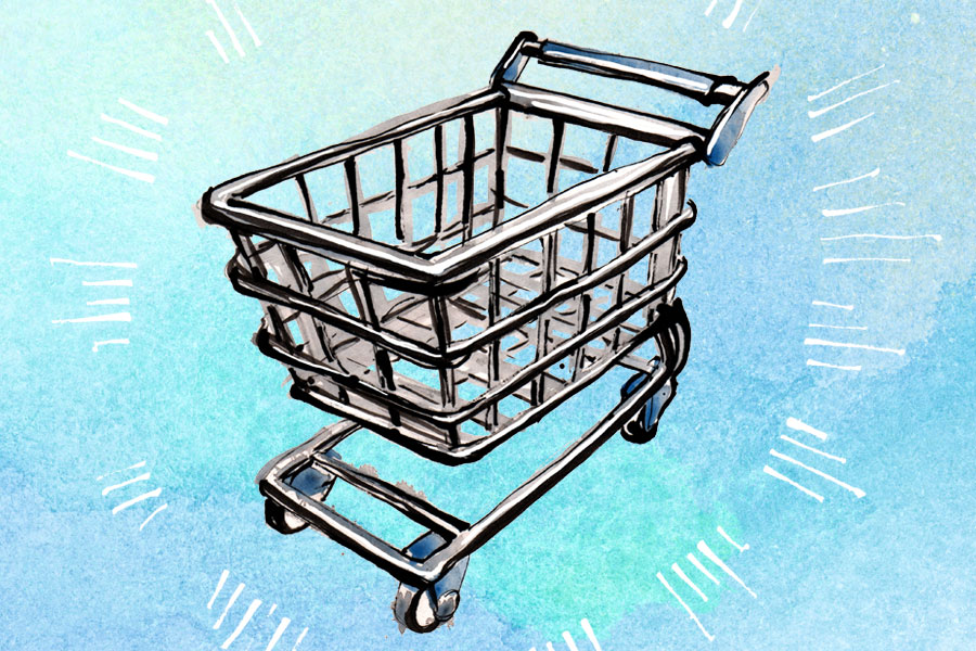 Shiny Shopping Cart