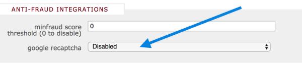 reCAPTCHA Config